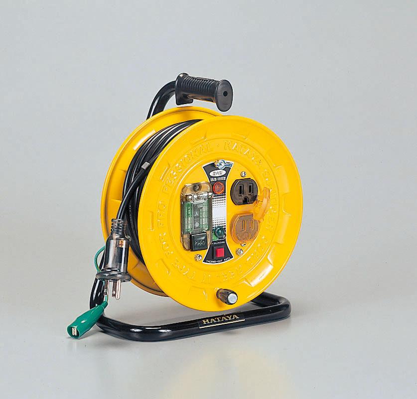 ハタヤ SBJ3-101KE コードリール(温度センサー付) 10m 接地付 地絡保護専用型 アースチェック付