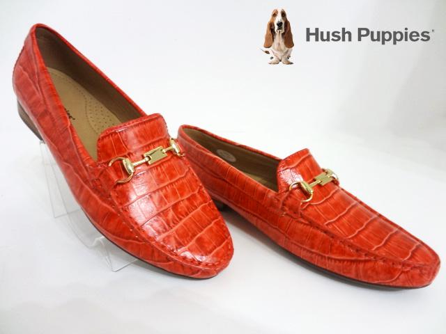 Hush Puppies(ハッシュパピー)L-508285/レッド【2016SS】【送料無料】レディースローファー/コンフォートシューズ/ビット付ローファー/型押しデザイン