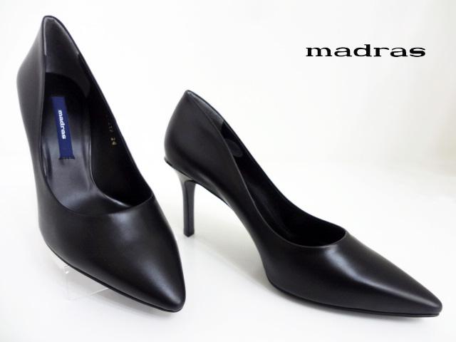 【値下げ】madas(マドラス)MAL6501P BLACK ブラック【送料無料】レデーィスプレーンパンプス ポインテッドトゥパンプス ピンヒール マドラスオリジナル 冠婚葬祭 正規販売代理店
