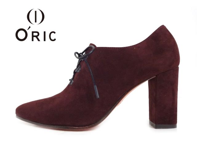 O'RIC(オーリック)410-31932 BIGOT IMPERIAL ボルドー ワインレッド【2020AW】【送料無料★沖縄・北海道・離島除く】【新作】レディースパンプス レースアップパンプス ブーティー チャンキーヒール ポインテッドトゥパンプス イタリア企画 トラッドデザイン 婦人靴