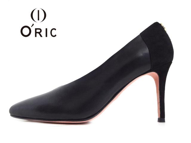 O'RIC(オーリック)410-32033 BREA BLACK ブラック【2020AW】【送料無料★沖縄・北海道・離島除く】レディースパンプス ピンヒール ポインテッドトゥパンプス 異素材コンビネーション イタリア企画 ライン綺麗 婦人靴