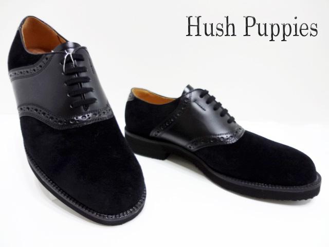 Hush Puppies(ハッシュパピー)M-184FX/ブラック【送料無料】メンズコンフォートシューズ /サドルシューズ/カジュアル/撥水加工/ピックスキン