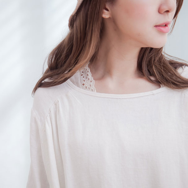 Back in stock 22 times ◆ cotton embroidered lace sleeveless blouse