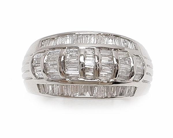 【20%OFF スーパーセール】 ノンブランド ジュエリー リング 指輪 バケットダイヤモンド Pt900 プラチナ 美品 12.5号相当 メンズ レディース 【中古】