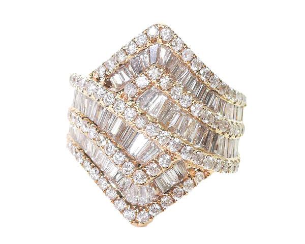 ノンブランド リング 指輪 ダイヤモンド K18PG 750 18金 ピンクゴールド 12号相当 レディース 【中古】