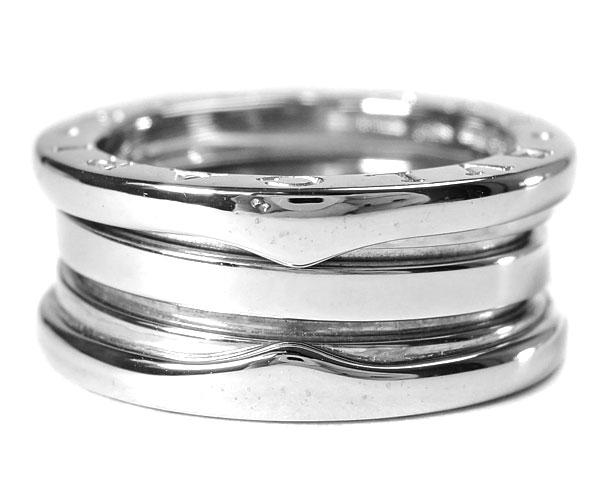 ブルガリ BVLGARI リング 指輪 ビーゼロワン B-zero1 K18WG 750 18金 ホワイトゴールド #50 約9.5号相当 レディース 定番 人気 美品 【中古】