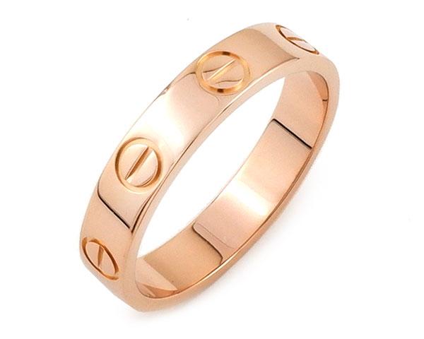 カルティエ Cartier リング 指輪 ミニ ラブリング ラブ LOVE K18PG 750 18金 ピンクゴールド #49 8.5号相当 レディース メンズ 女性用 男性用 定番 人気 美品 【中古】