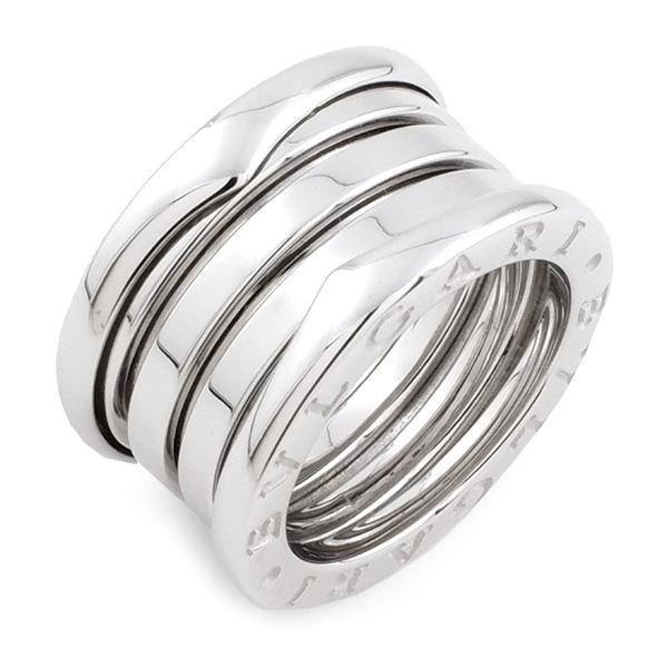 ブルガリ BVLGARI リング 指輪 B-zero1 ビーゼロワン K18WG 750 18金 ホワイトゴールド #47 6号相当 レディース メンズ 女性用 男性用 定番 人気 美品【中古】