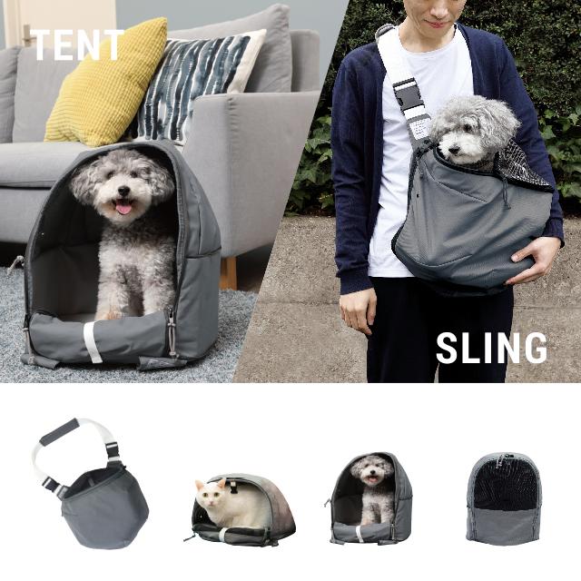 テントにもスリングにもなるペットキャリー スリング 犬 スリングバッグ ペット ペットキャリー リュック 猫 ペットキャリーバッグ 大人気 TENT テントスリング 定価の67%OFF ギフト セール プレゼント SLING ペットキャリーバック 送料無料