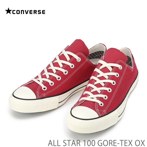 コンバース オールスターCONVERSE ALL STAR 100 GORE-TEX OX レッドコンバース オールスター 100 ゴアテックス OX 32169362210スニーカー 防水