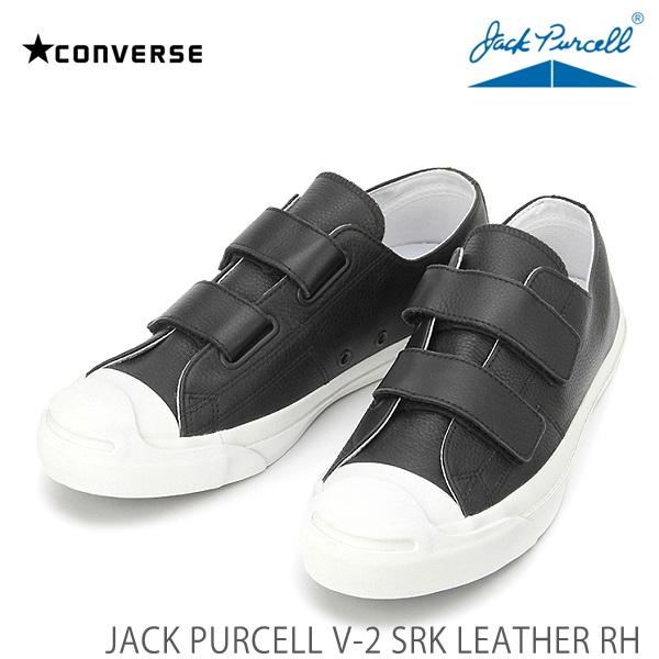 コンバース ジャックパーセルCONVERSE JACK PURCELL V 2 SRK LEATHER RH ブラックジャックパーセル V 2 SRK レザー RHSUzMVp