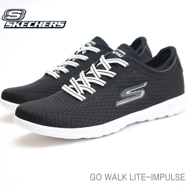 スケッチャーズ GO WALK 初売り レディース スニーカーSKECHERS LITE IMPULSE 15350 BKWゴーウォーク インパルス 買物 ライト