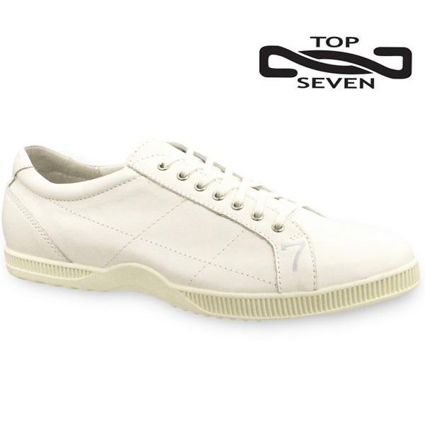 トップセブン スニーカー TOP SEVEN TS-2101 WHTメンズスニーカー レザースニーカー 靴