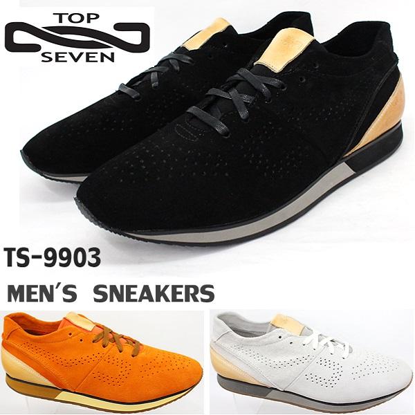 トップセブン スニーカー TOP SEVEN TS-9903レザースニーカー 靴 大人スニーカー