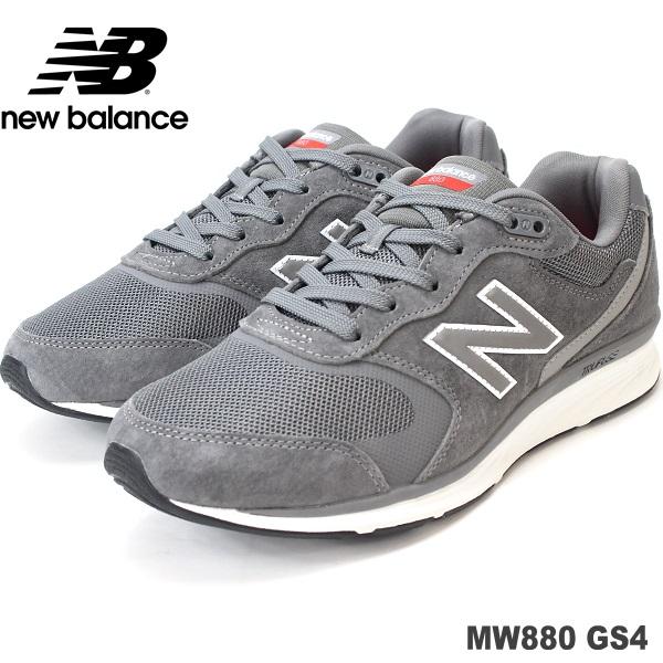 ニューバランス ウォーキングシューズnewbalance MW880 GS4 GRAY 4Eメンズウォーキング