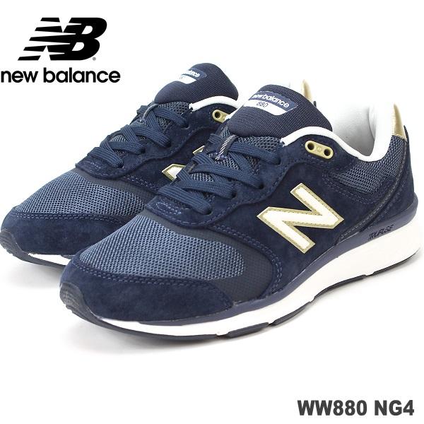 ニューバランス ウォーキングシューズnewbalance WW880 NG4 NAVYレディースウォーキング