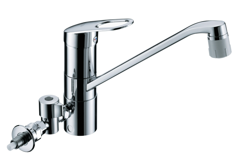TOTO GGシリーズ エコシングル水栓 シングルレバー混合栓(食器洗い乾燥機用分岐金具付き) 吐水切り替えタイプ TKGG31ECH
