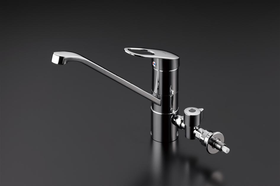 TOTO GGシリーズ エコシングル水栓 シングルレバー混合栓(食器洗い乾燥機用分岐金具付き) TKGG31EH
