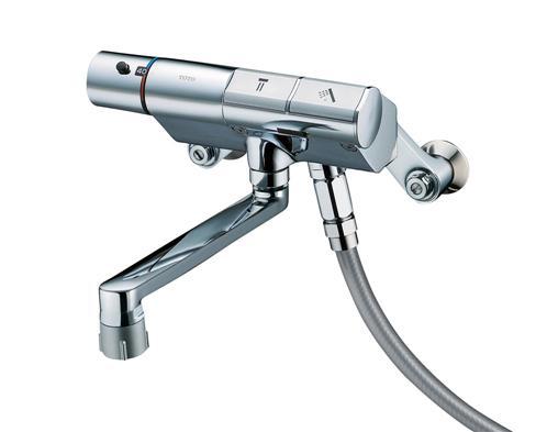 TOTO サーモスタットシャワー金具(壁付きタイプ) タッチスイッチ水栓 寒冷地用 TMN40TJZ