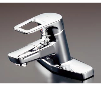 TOTO エコシングル水栓 シングルレバー混合栓〔台付き(2穴)タイプ・吐水口回転タイプ〕 寒冷地用 TLHG30DQERZ