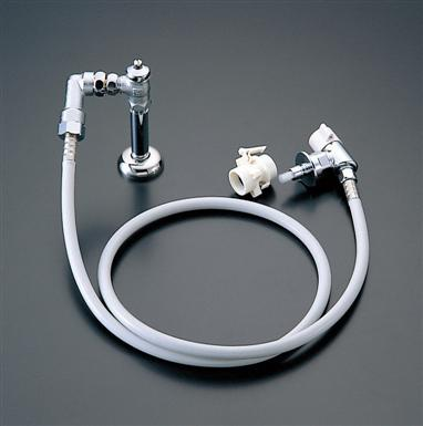 TOTO 「ピタットくん」露出タイプ(床給水タイプ・全自動洗濯機用) 緊急止水弁付水栓(樹脂配管用) TWA15S