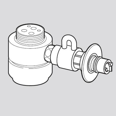 パナソニック(Panasonic) 分岐水栓(KVK用) CB-SKH6, 茶玻瑠:b764cf0d --- officewill.xsrv.jp