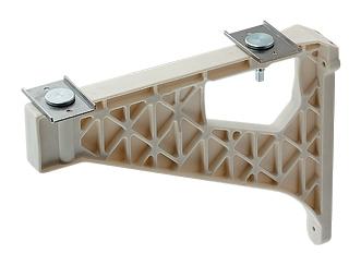 カクダイ(KAKUDAI) ブラケット(PBT樹脂・アイボリー)〔奥行き500・400ミリカウンター用〕 250-003