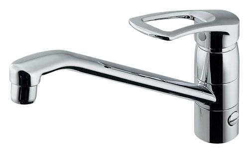 【在庫処分セール!】 カクダイ(KAKUDAI) 給湯制限シングルレバー混合栓(分水孔、取付アダプターつき) 117-064