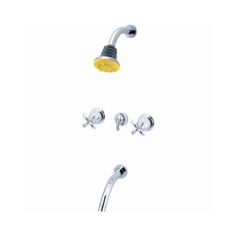 三栄水栓(SAN-EI) THE PINEAPPLE ROOM ツーバルブ埋込形シャワー混合栓 寒冷地用 SK9145K