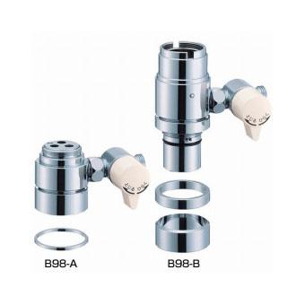 三栄水栓(SAN-EI) シングル混合栓用分岐アダプター(KVK用) B98-3A