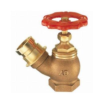 三栄水栓(SAN-EI) 差込45°消火栓(呼び50) V18-50