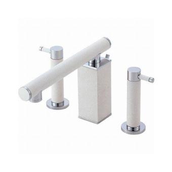 三栄水栓(SAN-EI) TOH ツーバルブ洗面混合栓(墨磁) 寒冷地用 K55300PK-JD