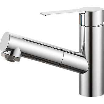 三栄水栓(SAN-EI) column シングルスプレー混合栓(洗髪用) 寒冷地用 K37531JK
