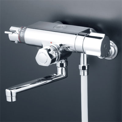 KVK お湯ぴた 定量止水付サーモスタット式シャワー(240mmパイプ付) KF159TR2