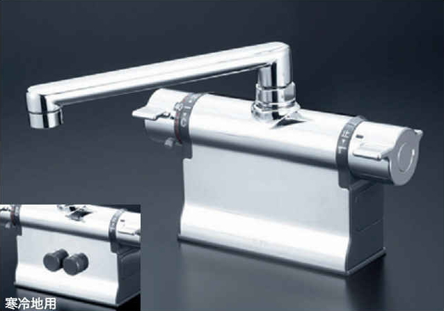 KVK デッキ形可変ピッチサーモ デッキ形サーモスタット式シャワー 寒冷地用 KF3011ZT