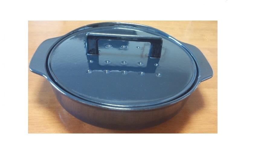 ノーリツ(NORITZ) 純国産南部鉄器 ホーロー鍋 ダークブルー (LP0122DB)  0705580