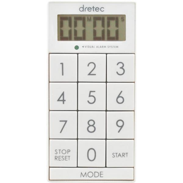 【ゆうパケット配送/代引不可】【メール便/ゆうメール】 【ゆうパケット対応/代引不可】ドリテック(dretec) デジタルタイマー「スリムキューブ」 ホワイト T-520WT