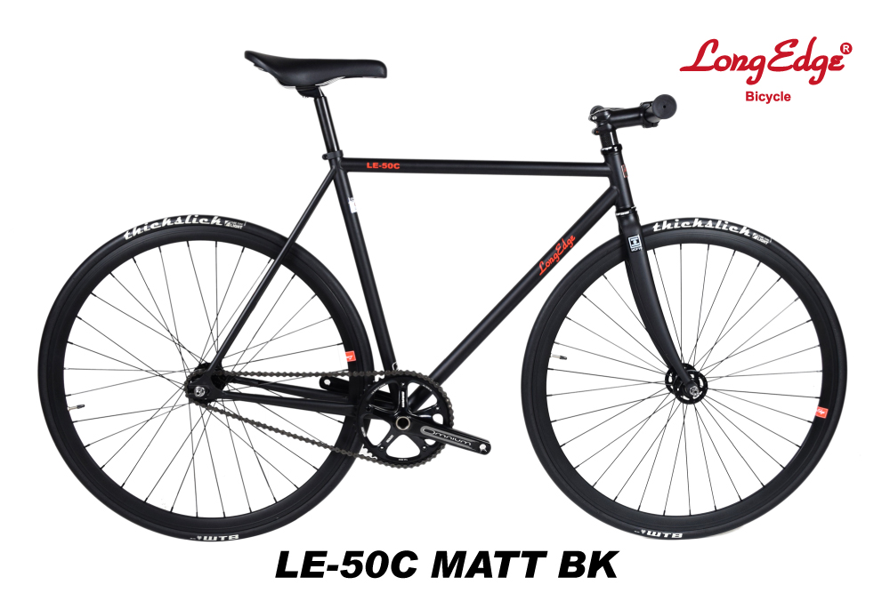 ピストバイク ロングエッヂ LongEdge LE-50C Matt Black 自転車 コロンバスフレーム columbus tube