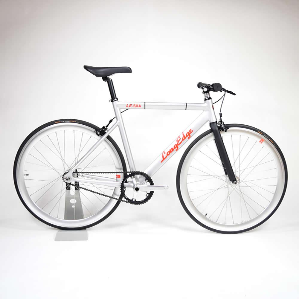【USED A】小傷有り LE-50A Custom matte silver アルミ ピストバイク LongEdge ロングエッヂ カスタム仕様 展示車 1台限定車割 トラックフレーム オムニウム