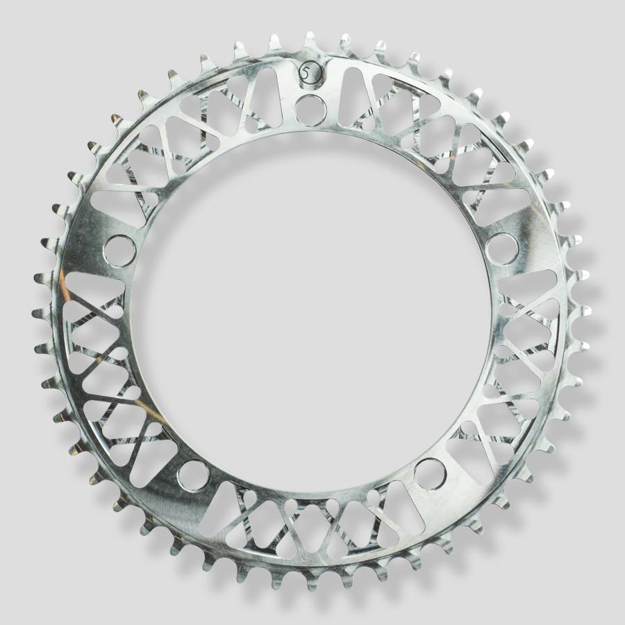FACTORY FIVE F5 Lattice Chainring ファクトリーファイブ 49T 51T 自転車 ピスト 厚歯