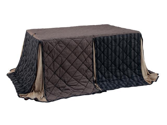こたつ布団 長方形 KOIZUMI コイズミ KFD1581 |送料無料 こたつ ブラウン ぽかぽか シンプル 温かい 温活 こたつ布団 おすすめ 天板固定 快適 ずれない
