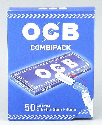 手巻きタバコ用フィルター 携帯に便利です OCB コンビパック 手巻きタバコ用 手巻きタバコ 引き出物 50枚入 フィルター50個 半額 巻紙69mm