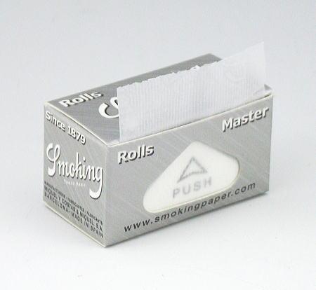 超薄 スローバーニング 手巻きタバコ 細めの煙草におススメ Smoking スモーキング マスター 手巻きタバコ用 Silver 交換無料 master 巻紙ロール 37mm×4m Rolls ふるさと割 No.8 ペーパー