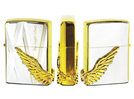 【送料無料 限定1000個】ANGELS WINGS Zippo エンジェルウイング PAW-115SPG シリアル番号入 シルバーポリッシュゴールド