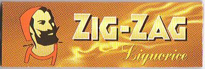 手巻きタバコ ペーパー ZIG-ZAG ジグザグ リコリス 手巻きタバコ用 69mm zigzag OUTLET SALE 50枚入 超人気 シングルサイズ 巻紙