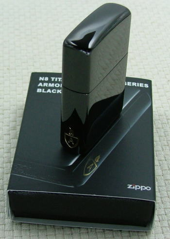 ZIPPOアーマー(ARMOR CASE)ジッポー黑色钛表面涂层162N8黑洞值得祝贺!乐天Eagles日本之最!