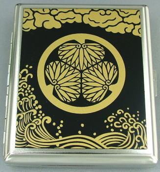 シガレットケース  数量限定 葵の紋 シガレットケース 85mm 18本用