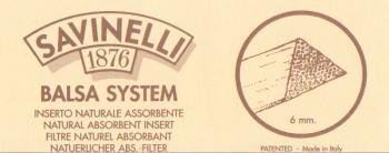サビネリ SAVINELLI セール 6ミリ バルサフィルター 超安い 20本