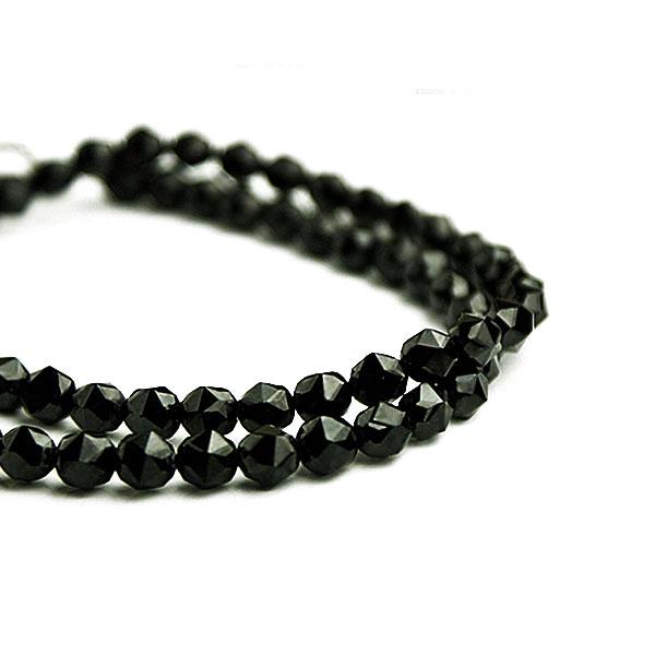 ブラックスピネル ネックレス 6mm スターカット 希少 黒 ブラック ネックレス メンズ シンプル 通販 送料無料