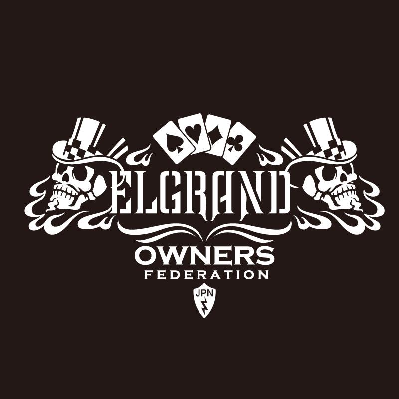 車名カッティングステッカー カッティングステッカー セール特価品 日産 NISSAN エルグランド ELGRAND cardskull 気質アップ 車 ステッカー シール カー アクセサリー ガラス